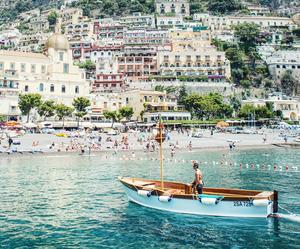 boat, capri, and city image