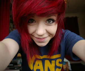 girl, vans, and red hair image