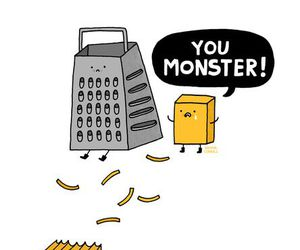 monster, cheese, and funny image