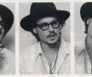 b&w, hat, and johnny depp image