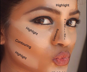makeup, highlight, and contour image