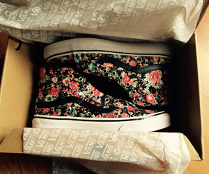 floral, shoes, and vans image