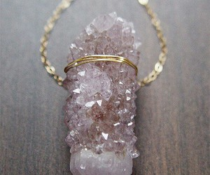 necklace, crystal, and gold image
