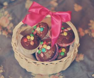 cupcake, food, and bow image