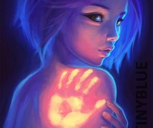 girl, art, and hand image