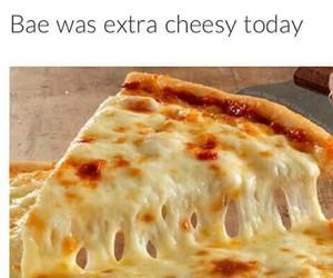 bae, pizza, and food image