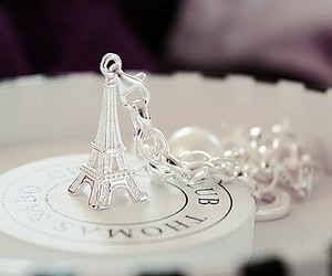 paris, eiffel tower, and silver image