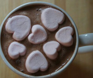 marshmallow, chocolate, and heart image