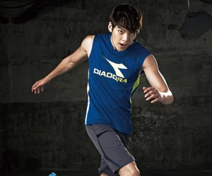 diadora, sporty outfit, and kim woo bin image