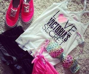pink, Victoria's Secret, and vans image