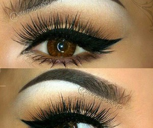 eyeliner, eyes, and make up image