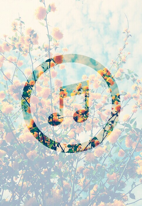 music, flowers, and wallpaper image