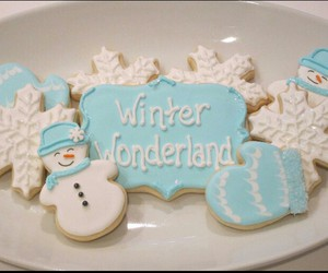 blue, christmas, and Cookies image