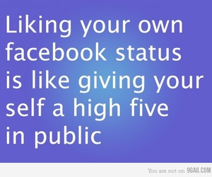 facebook and status image