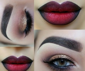 lips, girl, and red image