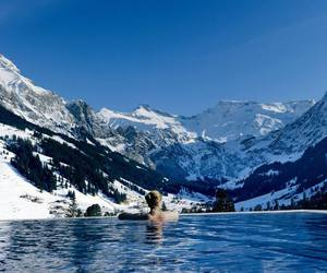 italy, mountains, and pool image