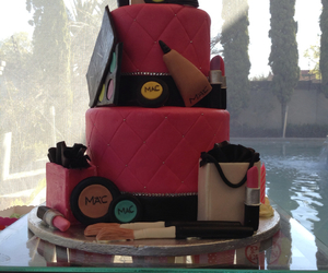 cakes, food, and makeup image