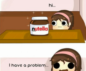 nutella, chocolate, and problem image