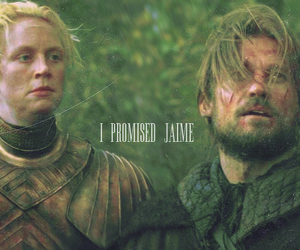 game of thrones, jaime lannister, and brienne of tarth image