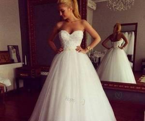 dress, beautiful, and wedding image