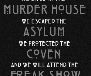 ahs, freak show, and murder house image