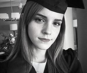 emma watson, harry potter, and graduation image