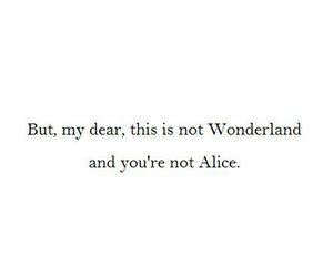alice in wonderland, book, and Darkness image