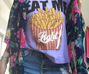 chips, clothes, and flower image