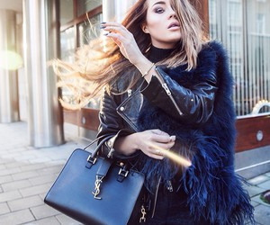bag, hair, and leather image