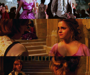 hermione granger, harry potter, and ron weasley image