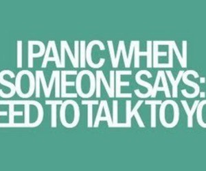 panic, text, and talk image
