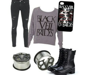 band, outfit, and black viel brides image