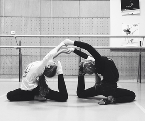 ballet, best friends, and flexibility image
