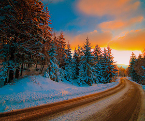 snow, photography, and road image