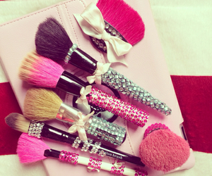 Brushes, cosmetics, and makeup image