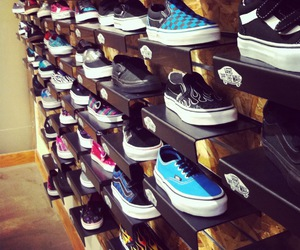 shoes, store, and vans image