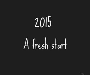 new year, 2015, and fresh start image