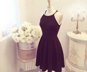 dress, black, and style image
