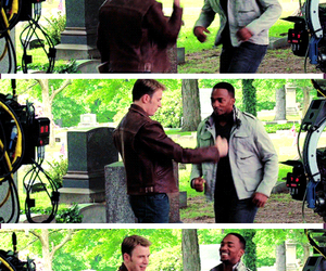 behind the scenes, captain america, and chris evans image