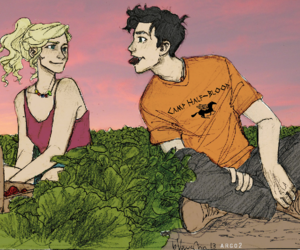 percy, strawberry, and percy jackson image