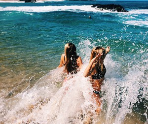 girls, sea, and summer image