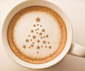 coffee, christmas, and tree image