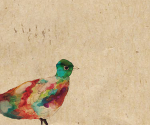 art, bird, and colourful image