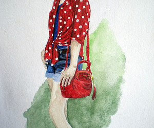 drawing, fashion blogger, and fashion illustration image