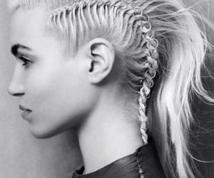 hair, blonde, and braid image