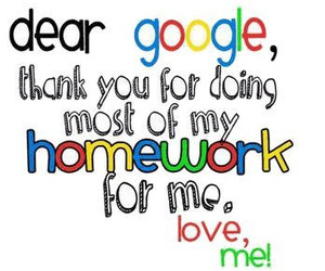 google, homework, and text image
