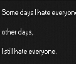 hate, quote, and everyone image