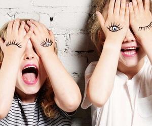 funny, kids, and make-up image