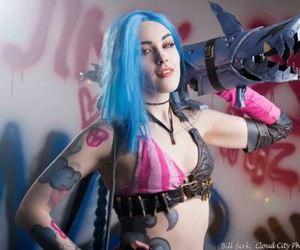 cosplay, jinx, and league of legends image