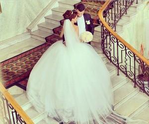 wedding, love, and dress image